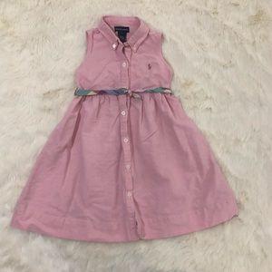 Ralph Lauren Girls' Shirt Dress in Pink